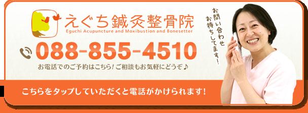 高知市鏡川町 えぐち鍼灸整骨院の電話番号:088-855-4510