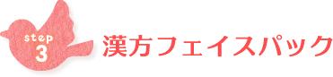 ステップ3 漢方フェイスパック